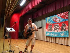 スクラム釜石バーバリアンズの出し物は、長山時盛オンステージ!!