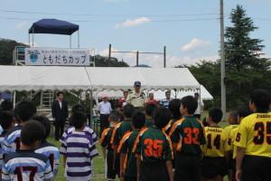 自衛隊船岡駐屯地第十施設群長 中田茂喜様