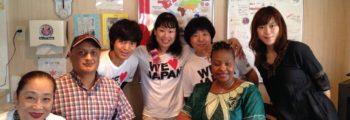 釜石・鵜住居のラグビーカフェにイボンヌ・チャカチャカさん訪問